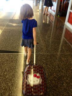 "Gotta get going...love my new ""Hello Kitty"" suitcase."