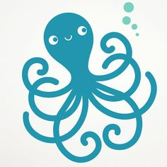 Happy Octopus Wall Decal Ocean Nursery Kids by graphicspaces, $20.00