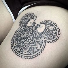 Minnie mandala tattoos for women