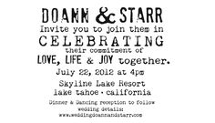 Wording for Invites