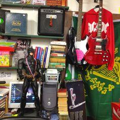 Batman, guitars and stuff at Universal Books, Letterkenny