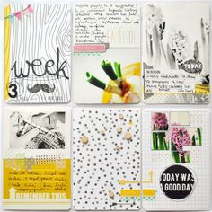 Project Life Scrapbook Inspiration. Ideas for layout planning for pocket pages. Scrapbooking layouts.