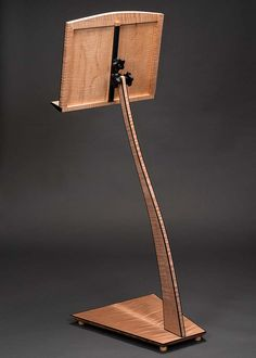 Take a Stand - Music Stands Cello Stand, Wood Guitar Stand, Music Stand, Fine Furniture, Furniture Ideas, Stand Design, Rear View, Custom Design, Hardwood