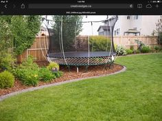 Image result for backyard private. trampoline