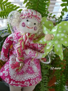 spring angel Hand Sewing, Dinosaur Stuffed Animal, Angel, Dolls, Christmas Ornaments, Holiday Decor, Spring, Handmade, Crafts