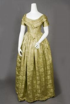 Evening gown, 1840's.