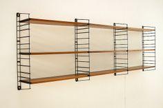 Vintage teak Tomado wall unit bookcase