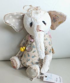Tansy, a baby elephant in romper suit. By Ragtail n Tickle.