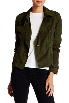 BNCI by Blanc Noir - Faux Suede Moto Jacket at Nordstrom Rack. Free Shipping on…