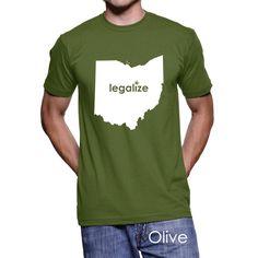 #Ohio Legalize Pot Men's T-Shirt #PotTeez