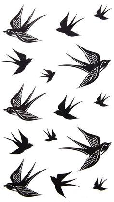 Amazon.com: 2012 new design New release temporary tattoo waterproof Swallow tattoo stickers: Beauty