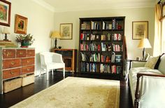 Between Blue and Yellow: Library Makeover: Benjamin Moore Ashwood