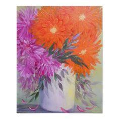 Contemporary Floral Poster - decor diy cyo customize home