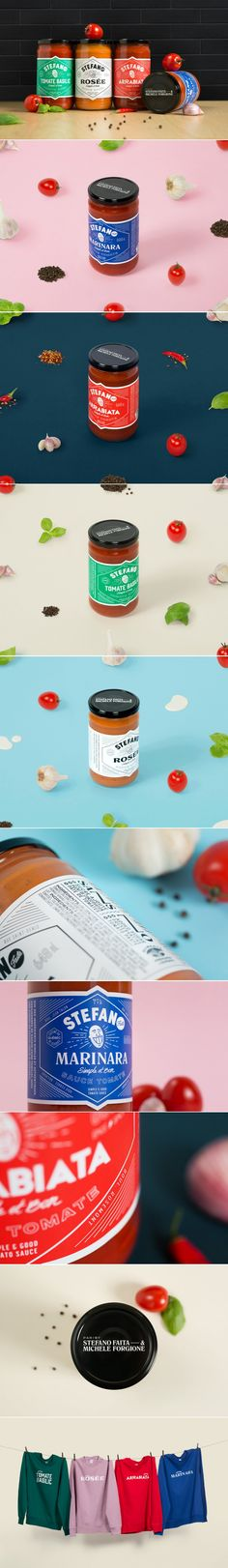 Stefano's Pasta Sauces Have a Well-Designed Look That Stand Out On the Shelves — The Dieline | Packaging & Branding Design & Innovation News