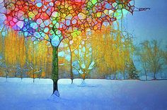 Colour Amongst the Snow by Tara Turner