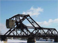 The iconic weighted bridge across the Erie Canal, connecting Tonawanda and North Tonawanda.