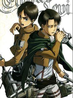 Attack on Titan - Shingeki no Kyojin - Levi & Eren