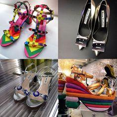 Estes são alguns dos sapatos mais atraentes com um toque de sorriso digno do momento. Ou eles são super altos ou um arco-íris de cores.