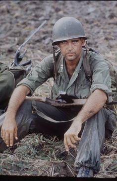 The Vietnam War Era — A patrol led by US Army Capt. Robert Bacon, 1964....