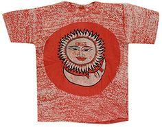 Odishabazaar Unisex Cotton Sun Moon Batik T-shirt Tees XL Red Odishabazaar http://www.amazon.com/dp/B01AO6T0EQ/ref=cm_sw_r_pi_dp_nBa4wb02R3D91