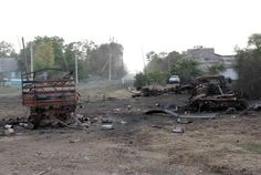 After continuous shots from Russia Ukrainian village Stepanovka is completely destroyed