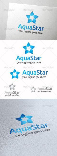 Aqua Star - Logo Design Template Vector #logotype Download it here: http://graphicriver.net/item/aqua-star/8482669?s_rank=1072?ref=nesto