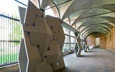 Interni Installation   Terra Moretti  //  Moretti presented the QuaDror geometry with the manufacture and installation of a unique 20 meter wall at theUniversita degli Studi di Milano for the Interni Mutant Architecture & Design event in April 2011.