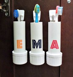 My husband is one of those people who, if he had his way, would insist that every surface in our home be free of clutter. Not even clutter, just STUFF. So he would be delighted if I DIYed us up one of these toothbrush holders that gets things off the counter and stowed away. Check out these clever ideas that repurpose household items into toothbrush storage—perfect for small spaces.