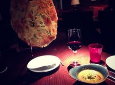 Start your dinner at Allium in Chicago with an order of Cheese lavosh.