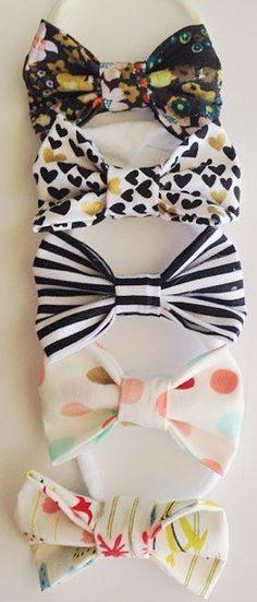 Big baby bow headbands baby bows nylon headbands by cadyandjax