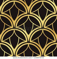 Vintage ornamental art deco retro seamless background and texture. Vector illustration can be used for wrapping paper, wallpapers, tiling, flooring, fabric, textile and other designs. Deco Retro, Texture Vector, Seamless Background, Tiling, Art Deco Fashion, Wrapping, Frames, Wallpapers, Illustrations