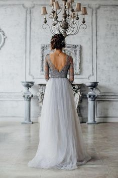 30 timeless grey and white fall wedding ideas deer pearl flowers white and grey wedding dress Tulle Wedding, Wedding Bells, Dream Wedding, Bling Wedding, Perfect Wedding, Wedding Flowers, Bridal Gowns, Wedding Gowns, Gray Wedding Dresses
