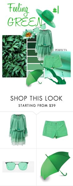 """Feeling GREEN #1"" by haileychong on Polyvore featuring Whiteley, Roberto Cavalli, Old Navy, CHARLES & KEITH, LEXON and House of Lafayette"