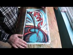 Tutorial video showing the steps to create a reductive print. Reductive prints are created by reducing the lino in colour stages.