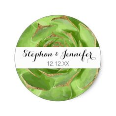 Cactus Green Succulent with Faux Gold Tips Classic Round Sticker Cactus Stickers, Round Stickers, Cacti Garden, Summer Plants, Gold Tips, Easy Peel, Free Paper, Custom Stickers, Create Yourself