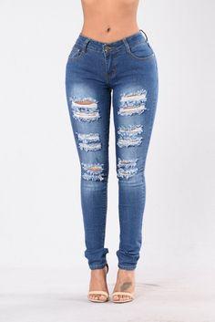 Super Unique Jeans - Medium Blue