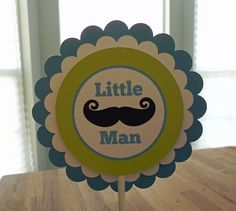 Cake Topper: Little Man Mustaches and Ties  Boy Baby by BabyBinkz