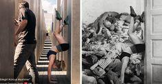 """Israel Shahak Shapira creo el """"Yolocaust"""" un proyecto para avergonzar a las personas irrespetuosas que se toman selfies en el memorial del holocausto en Berlín"""