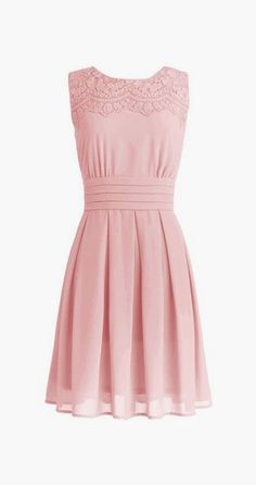 Romantic Round Knee-length Chiffon Bridesmaid/Party Dress with Appliques Short Bridesmaid Dresses, Short Dresses, Summer Dresses, Bridesmaids, Prom Dresses, Pretty Dresses, Beautiful Dresses, Retro Vintage Dresses, Vintage Clothing