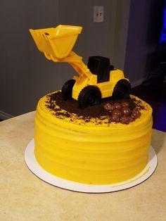 Construction Cake Smash, Construction Birthday Parties, Monkey Birthday Parties, 1st Boy Birthday, Birthday Ideas, Bolo Rapunzel, Cakes For Boys, Themed Cakes, Cake Decorating