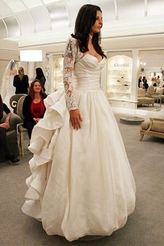 I saw this today! I know I'm jumping the gun here, but this dress was stunning...love the silhouette and lace sleeves (removable), but I don't like the back Featured Dresses, Season 8 Part 3: Say Yes to the Dress: TLC