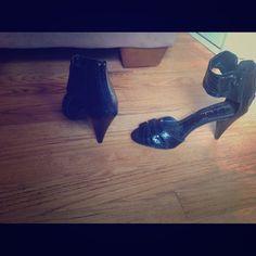 Gabriela Rocha black ankle strap heels Black ankle strap heels by Gabriela Rocha. Vegan leather, heels measure 3in, size 8 Gabriela Rocha Shoes Heels