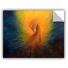 ArtApeelz Firebird by Marina Petro Painting Print on Canvas