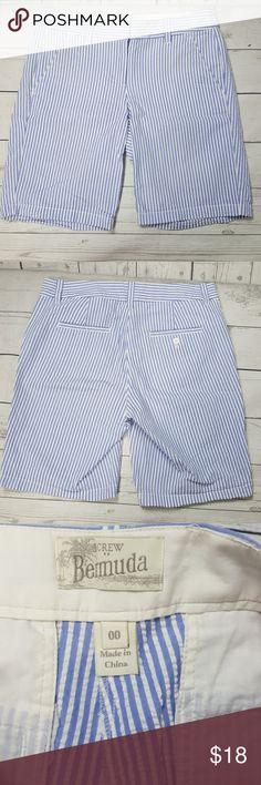 J crew Bermuda shorts J crew Bermuda shorts, striped,cotton J. Crew Shorts Bermudas