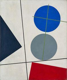 """"""" Sophie Taeuber-Arp (1889–1943), Composition, 1931. oil on canvas, 55 × 46 cm """""""