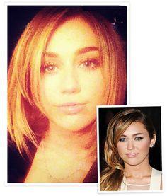 Miley Cyrus - bobbed hair cut