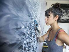 pinturas con los dedos Zaria Forman