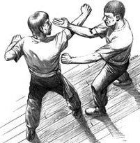 simultaneous punch and block of wing chun