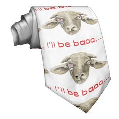 I'll be baaa.. #funny #goat #tie #sciencefiction #parody to make you #laugh This #humorous neck tie is the ideal gift for animal lovers science fiction fans and those that have concluded that it's a #goatslife Designed by illustrator Catherine Sweetman http://www.zazzle.co.uk/pennydrop