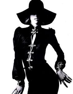 Harper's Bazaar... vintage hat with modern moves